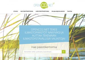 Screenshot of OpenCO2.net service by Clonet