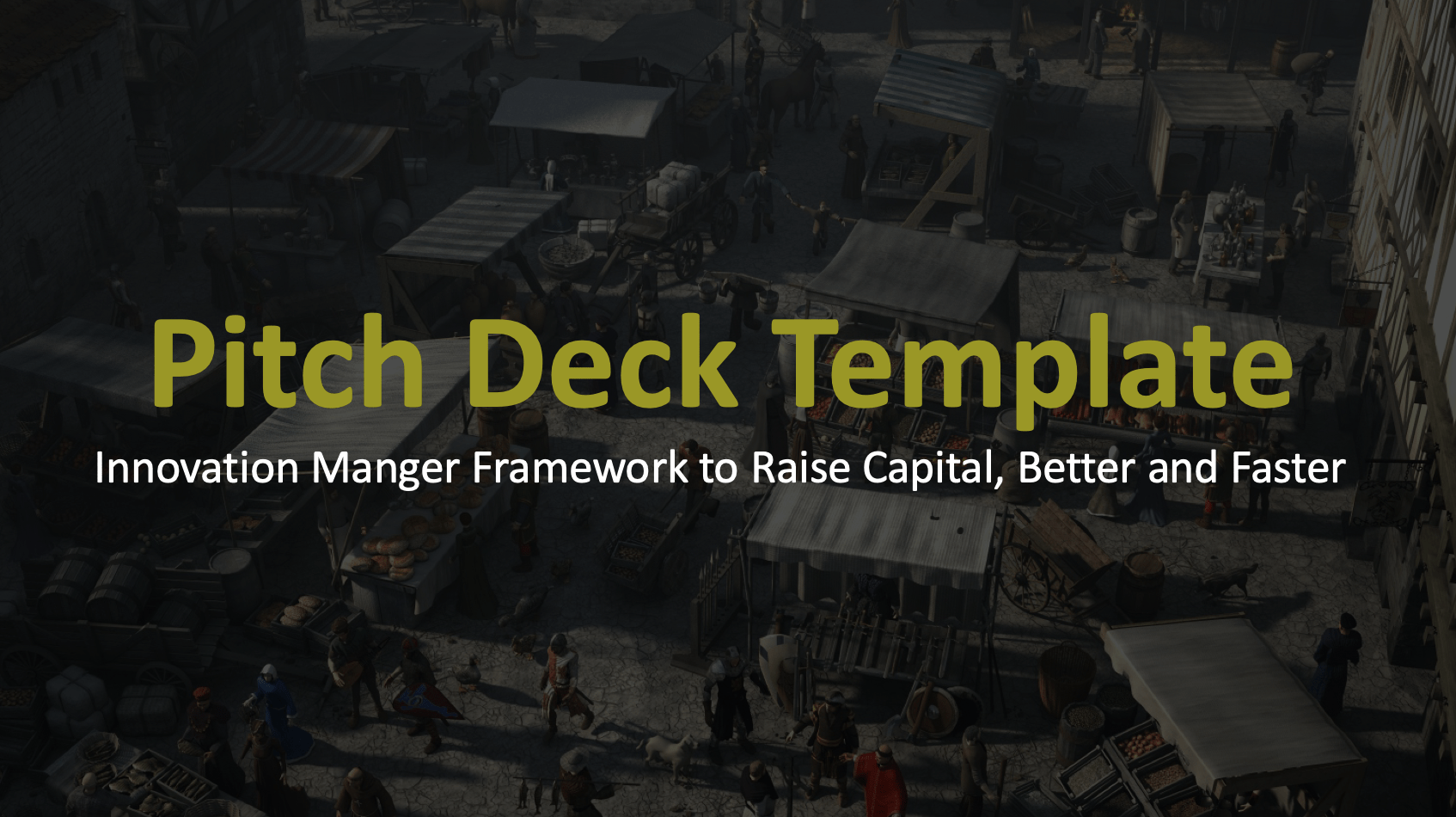 Innovation Manager  Pitch Deck Template